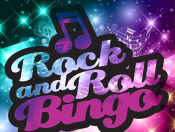 Purple & Pink Rock n Roll Bingo sign